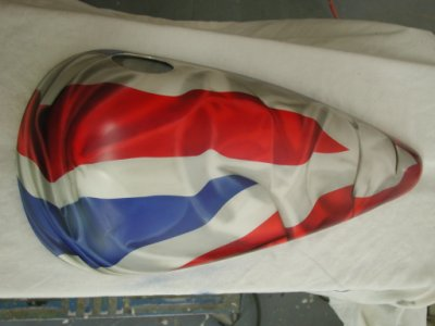 Email colin airbrush art co uk airbrushed flag effects on a harley