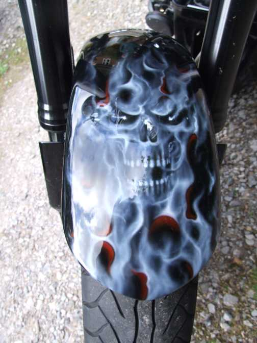 motorcycle ghost flames